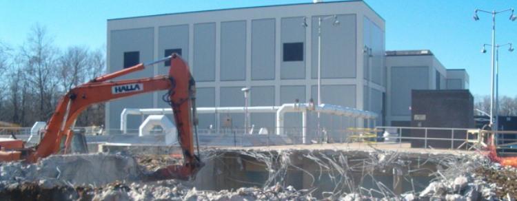 Water Treatment Plant Demolition : Little patuxent wastewater treatment plant adi demolition